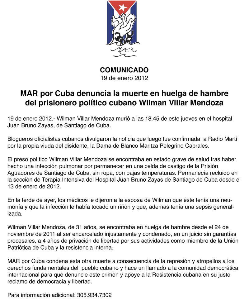 Comunicado Wilman